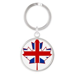 UK Maple Round Keychain