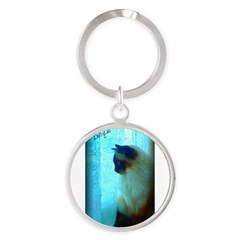 DollyCat Atmosphere - Ragdoll Cat - Round Keychain