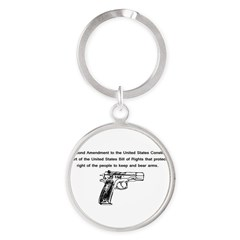 The Second Amendment Round Keychain