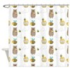 Bears and Bees Shower Curtain
