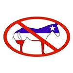 Anti-Democrats Oval Sticker