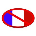 Anti-France Oval Sticker