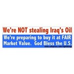 Iraqi Oil Bumper Sticker