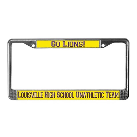 funny license plate frames. Unathletic Team Custom Funny License Plate Frame