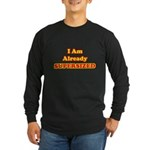 Already Supersized Long Sleeve Black T-Shirt