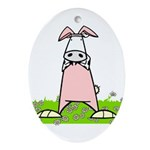 Easter Bunny Cow Ornaments