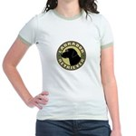 Black Lab Crest - Jr. Ringer T-Shirt