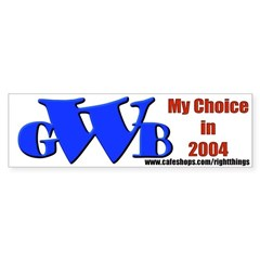 GWB in 2004 Sticker (Bumper)