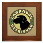 Black Lab Crest - Framed Tile