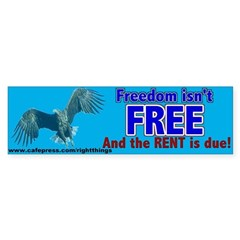 Freedom Isn't Free Patriotic Sticker (Bumper)