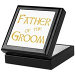 Sherbet Father of the Groom Keepsake Box