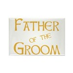 Sherbet Father of the Groom Rectangle Magnet (100