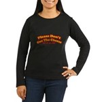 Cut the Cheese Women's Long Sleeve Brown T-Shirt