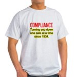 Compliance Turn Down Light T-Shirt