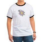 Happy Mother's Day Purple Flower Ringer T