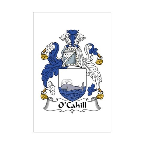 The O'Cahill Family Crest. Be proud of your genealogy, heritage, and family!