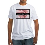 Pink Toile World's Best Mother Mom Fitted T-Shirt