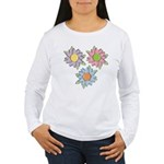 Pretty Mother's Day Cartoon Flowers Women's Long S