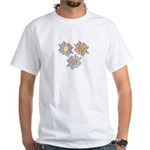 Pretty Mother's Day Cartoon Flowers White T-Shirt