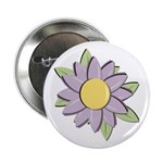 Purple Cartoon Flower Spring Button