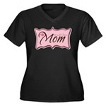 Pink World's Best Mom Plaque Women's Plus Size V-N