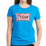 Pink World's Best Mom Plaque Women's Dark T-Shirt