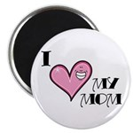 "I Love Heart My Mom Mother's Day 2.25"" Magnet (100"