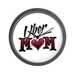Uber Mom Mother's Day Heart Wall Clock