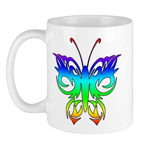 CafePress > Mugs > Colorful Butterfly Tattoo Mug. Colorful Butterfly Tattoo Mug