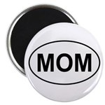 Mom European Oval Mother's Day Magnet