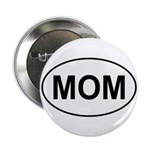 Mom European Oval Mother's Day Button