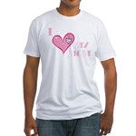 I Love Heart My Mom Mother's Pink Fitted T-Shirt