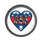 Heart Wonder Mom Mother's Wall Clock