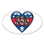 Heart Wonder Mom Mother's Oval Sticker