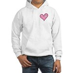 Pink Heart Cartoon Smile Smiley Hooded Sweatshirt