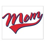 Baseball Style Swoosh Mom Small Poster