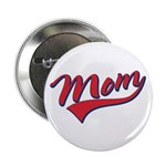 "Baseball Style Swoosh Mom 2.25"" Button (10 pack)"