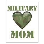 Military Mom Camouflage Camo Heart Small Poster