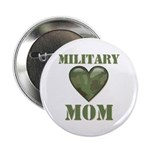 "Military Mom Camouflage Camo Heart 2.25"" Button (1"