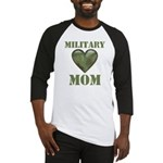 Military Mom Camouflage Camo Heart Baseball Jersey