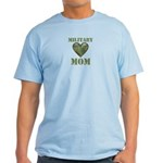 Military Mom Camouflage Camo Heart Light T-Shirt