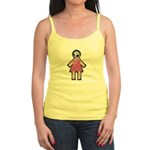 Pink Soccer Mom Cute Girl Art Jr. Spaghetti Tank