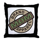 Mom Name Brand Apparel Logo Throw Pillow