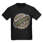 Mom Name Brand Apparel Logo Kids Dark T-Shirt