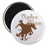 """Rodeo Mom Wester Cowboy Cowgirl 2.25"""" Magnet (100"""