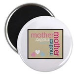 Mother Plaque with Hearts Mother's Magnet