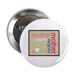 Mother Plaque with Hearts Mother's Button