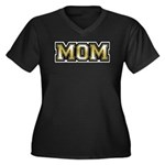 Golden Mom Name Gold Letters Women's Plus Size V-N