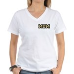 Golden Mom Name Gold Letters Women's V-Neck T-Shir