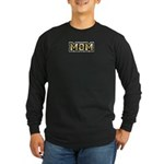 Golden Mom Name Gold Letters Long Sleeve Dark T-Sh